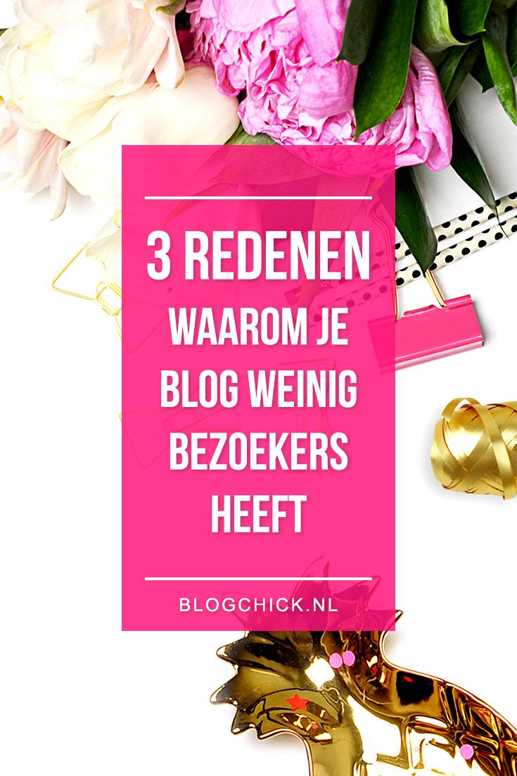 3 redenen waarom je blog weinig bezoekers heeft