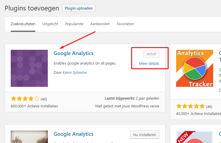 google analytics installeren op je wordpress blog