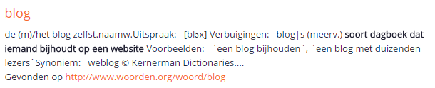 Is het de of het blog?
